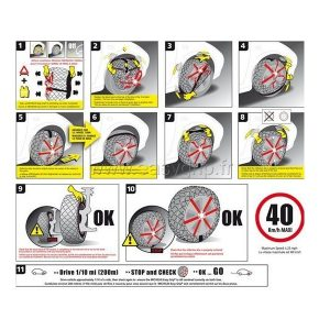 Lanac za snijeg Michelin Easy grip T11 (par) 7