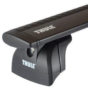 Komplet Thule krovni nosač sa crnom aluminijskom šipkom WingBar za fiksne točke ili integrirane uzdužne 753/751 2