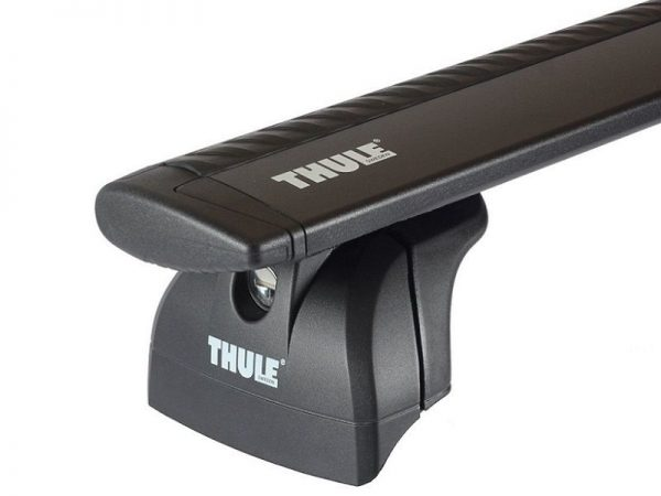 Komplet Thule krovni nosač sa crnom aluminijskom šipkom WingBar za fiksne točke ili integrirane uzdužne 753/751 1