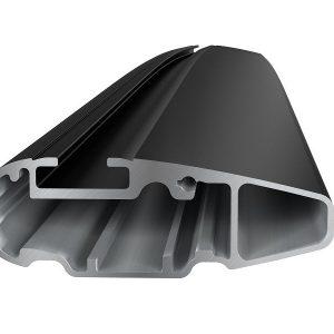 Komplet Thule krovni nosač sa crnom aluminijskom šipkom WingBar za fiksne točke ili integrirane uzdužne 753/751 8