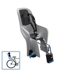 Dječja sjedalica stražnja na ramu bicikla Thule RideAlong Lite siva 2