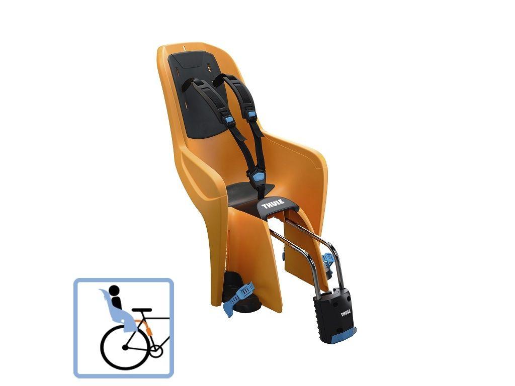 Dječja sjedalica stražnja na ramu bicikla Thule RideAlong Lite narančasta