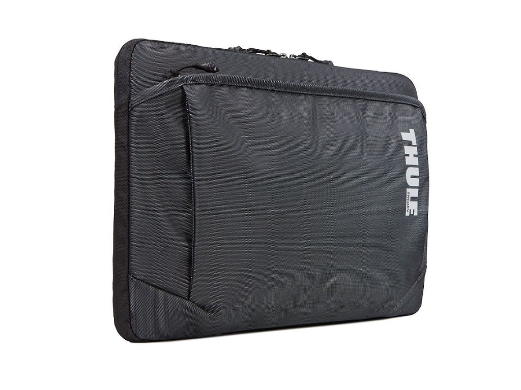 Durable, plush-lined sleeve for a 15″ MacBook®.