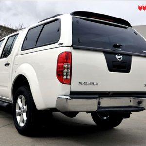 Carryboy hardtop bijeli za pickup Nissan Navara D40 king cab 2005-2015 s bočnim prozorima 22