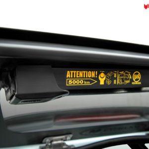 Carryboy hardtop bijeli za pickup Nissan Navara D40 king cab 2005-2015 s bočnim prozorima 5