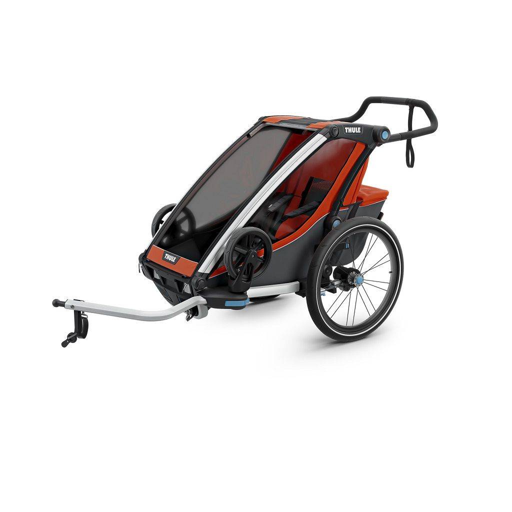 Thule Chariot Cross 1 narančasto/siva dječja kolica za jedno dijete