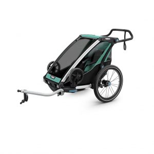 Thule Chariot Lite zeleno/crna dječja kolica za jedno dijete 2