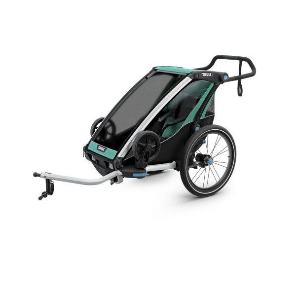 Thule Chariot Lite zeleno/crna dječja kolica za jedno dijete 1