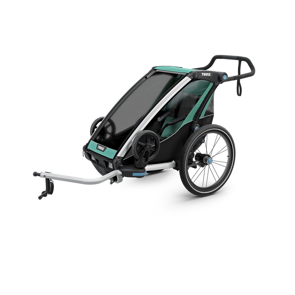 Thule Chariot Lite zeleno/crna dječja kolica za jedno dijete