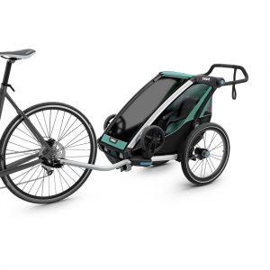 Thule Chariot Lite zeleno/crna dječja kolica za jedno dijete 4