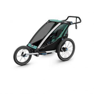 Thule Chariot Lite zeleno/crna dječja kolica za jedno dijete 3