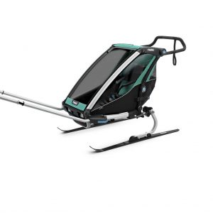 Thule Chariot Lite zeleno/crna dječja kolica za jedno dijete 5
