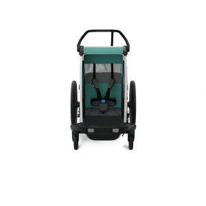 Thule Chariot Lite zeleno/crna dječja kolica za jedno dijete 6