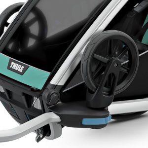 Thule Chariot Lite zeleno/crna dječja kolica za jedno dijete 8