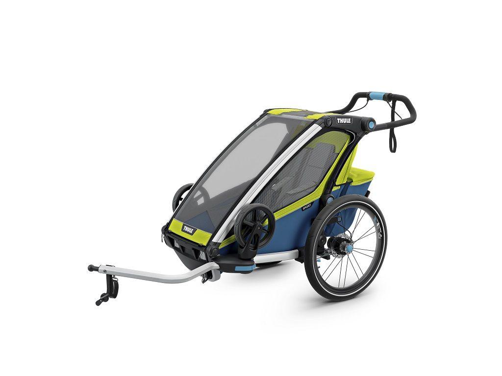 Thule Chariot Sport žuto/plava dječja kolica za jedno dijete