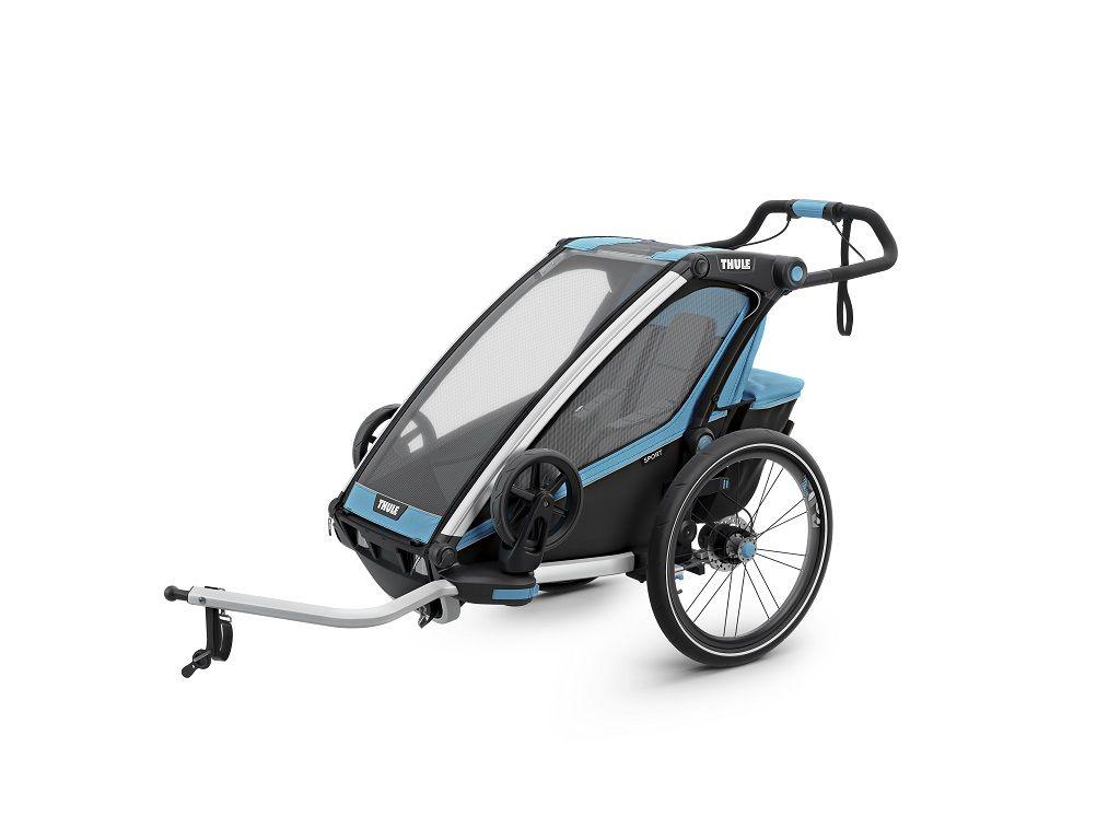 Thule Chariot Sport plavo/crna dječja kolica za jedno dijete