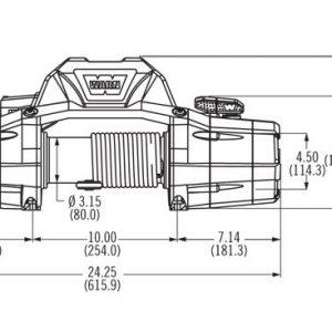 Premium vitlo Warn Zeon 10CE, 12V, 4.536kg sa sajlom, vodilicom i žičnim daljinskim 6