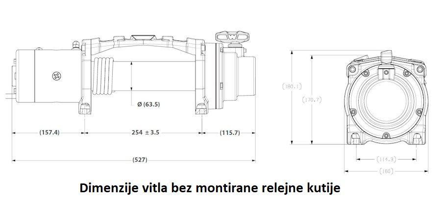Vitlo Warn Tabor 8, 12V, 3.629kg bez sajle i vodilice s žičnim daljinskim 3