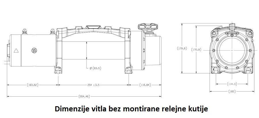 Vitlo Warn Tabor 12, 12V, 5.440kg bez sajle i vodilice s žičnim daljinskim 3