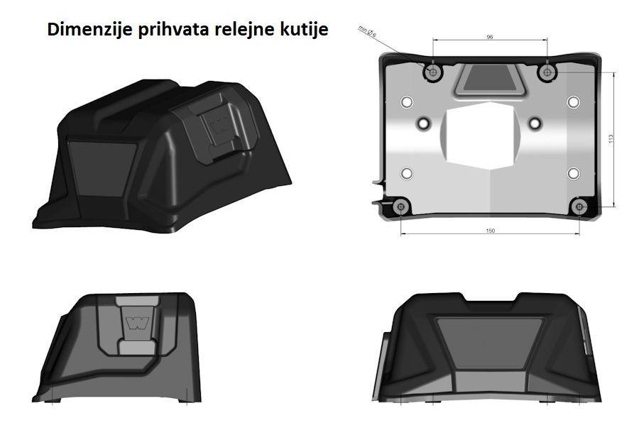 Vitlo Warn Tabor 12, 12V, 5.440kg bez sajle i vodilice s žičnim daljinskim 4