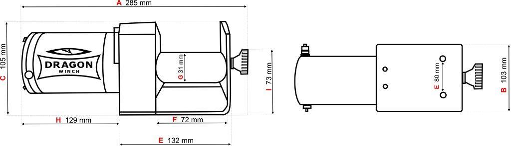 Vitlo Dragon Maverick DWM 2000 ST, 12V, 907kg sa sajlom, bez vodilice, sa žičnim daljinskim 7
