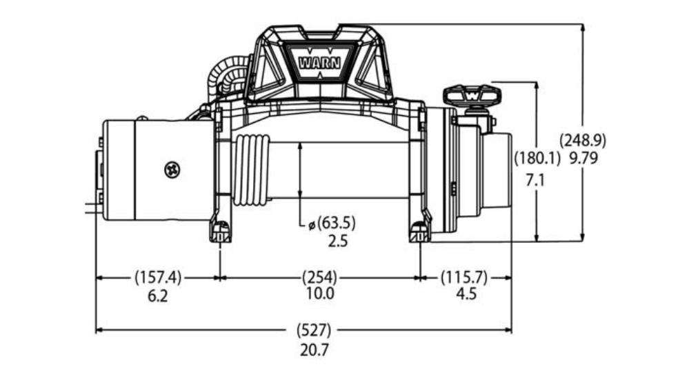 Vitlo Warn Tabor 8, 12V, 3.629kg bez sajle i vodilice s žičnim daljinskim 4