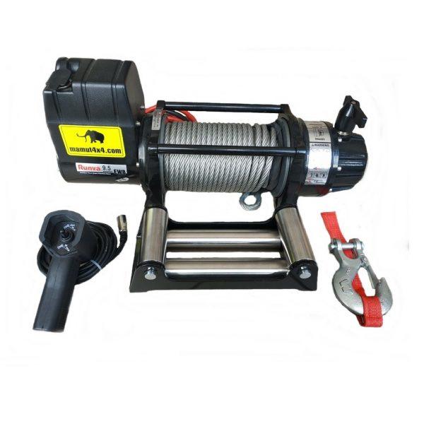 Vitlo Mamut EWX9500U, 12V, 4.309kg sa sajlom, vodilicom i žičnim daljinskim 1