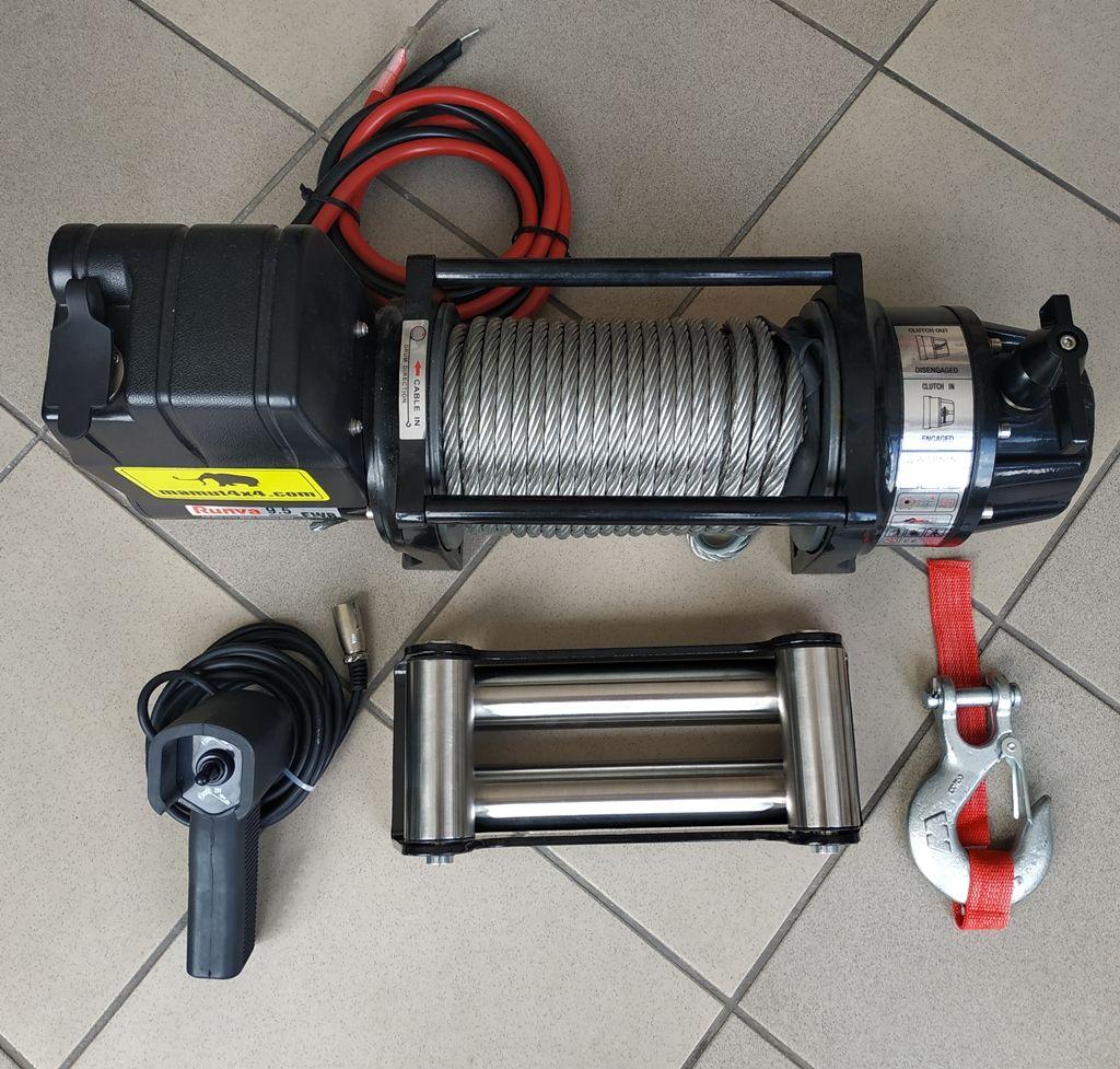 Vitlo Mamut EWX9500U, 12V, 4.309kg sa sajlom, vodilicom i žičnim daljinskim