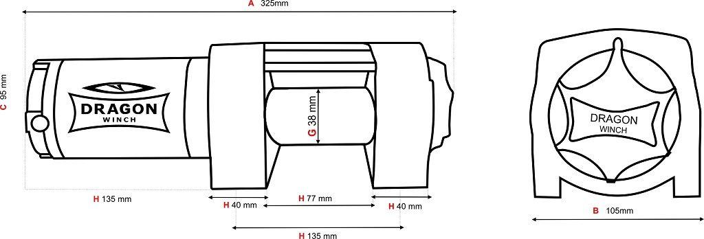 Vitlo Dragon Maverick DWM 3500 ST, 12V, 1.588kg sa sajlom, vodilicom, žičnim i bežičnim daljinskim 10