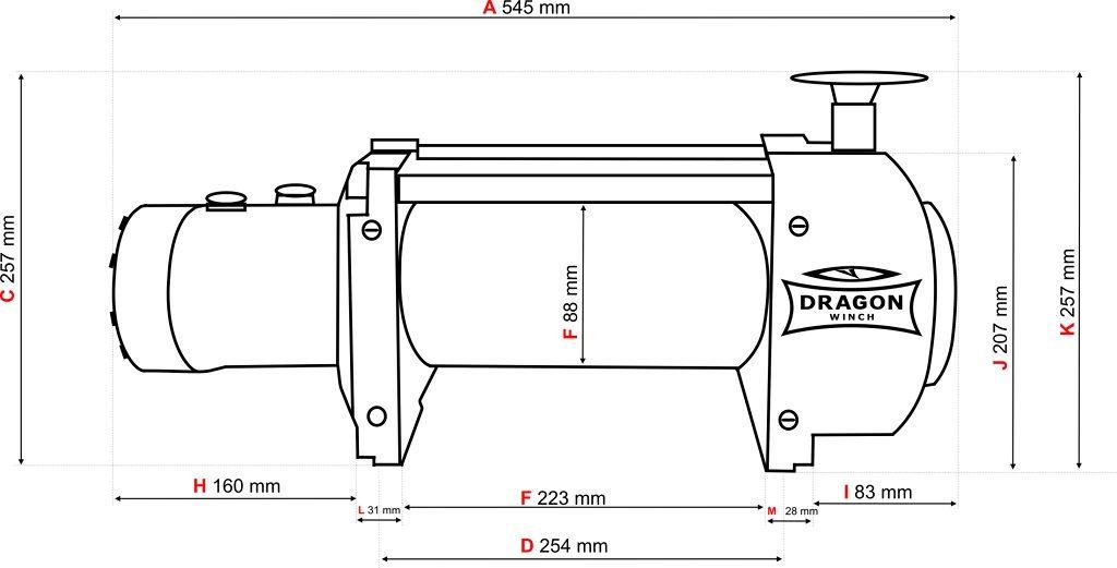 Vitlo Dragon Hidra DWHI 18000 HD, hidraulično, 8.165 kg, sa čeličnom sajlom, vodilicom, bez kontrolnog seta 10