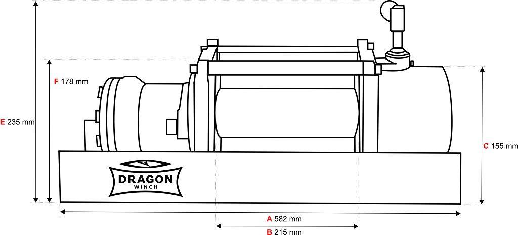 Vitlo Dragon Hidra DWHI 12000 HD, hidraulično, 5.443 kg sa čeličnom sajlom, vodilicom, pločom za montažu (bez kontrolnog seta) 9