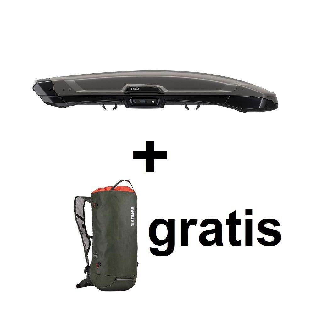 Thule Vector Alpine (500) titan mat krovna kutija + Gratis ruksak Thule Stir 15L