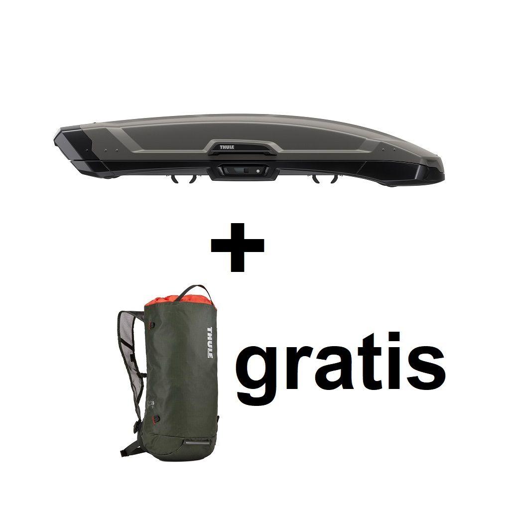 Thule Vector M (200) titan mat krovna kutija + Gratis ruksak Thule Stir 15L