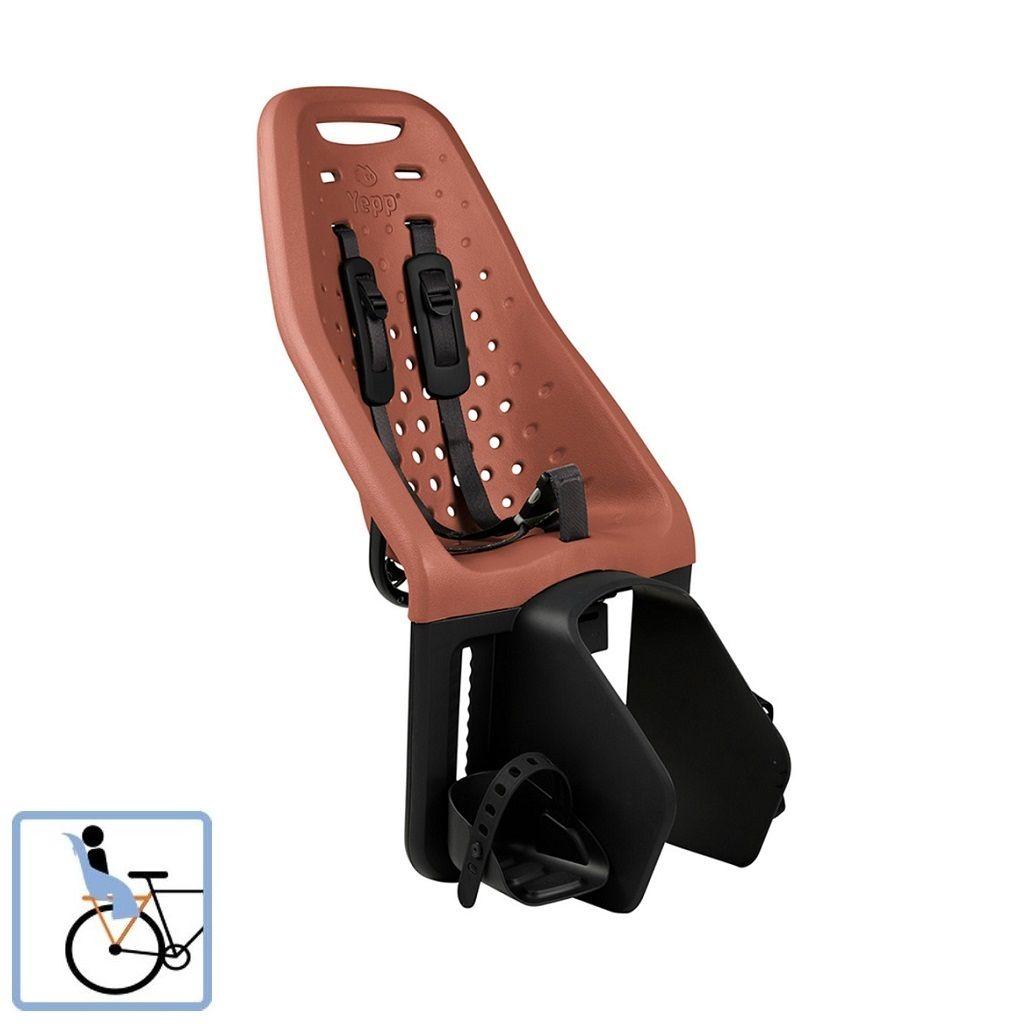 Dječja sjedalica stražnja za nosač Thule Yepp Maxi smeđa