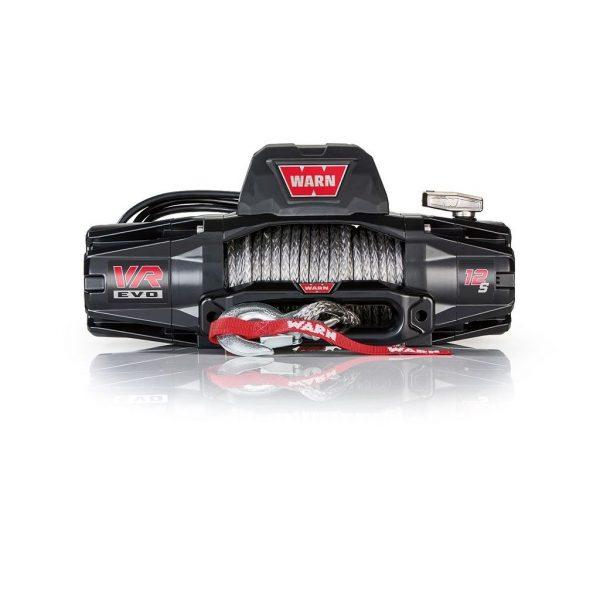Premium vitlo Warn VR EVO 12-S, 12V, 5.443kg sa sintetskim užetom, vodilicom i žičnim i bežičnim daljinskim 1
