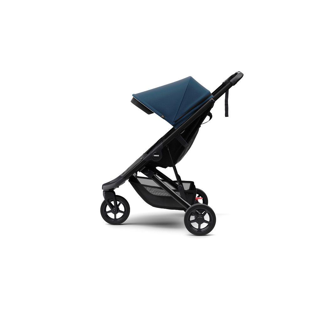 Thule Spring dječja kišobran kolica sa crnim okvirom i plavim krovićem