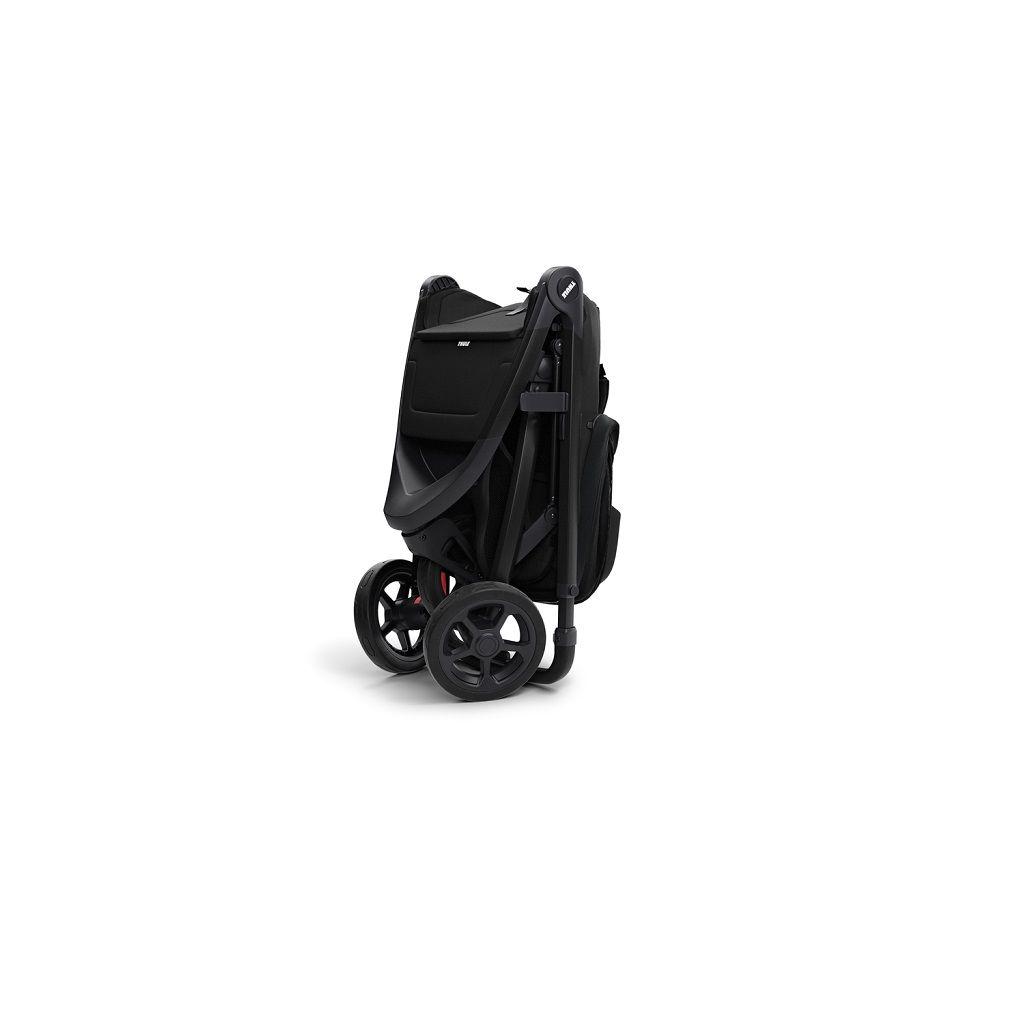 Thule Spring dječja kišobran kolica sa crnim okvirom i crnim krovićem