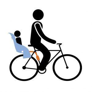 Dječje sjedalice za bicikl stražnje na ramu Thule