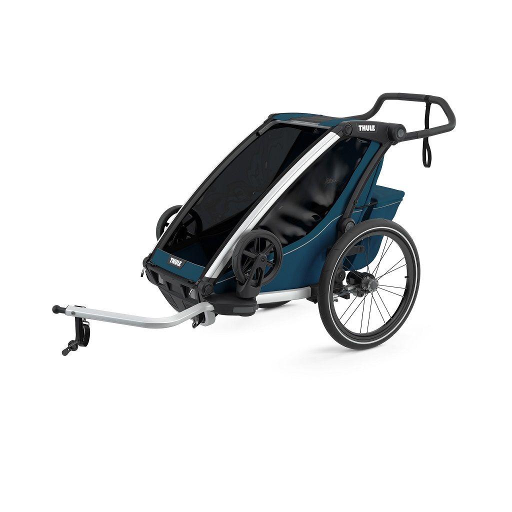 Thule Chariot Cross plava sportska dječja kolica i prikolica za bicikl za jedno dijete (4u1)